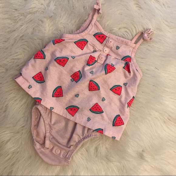 Carter's Other - Carter's Baby Girl Watermelon SunSuit 9M